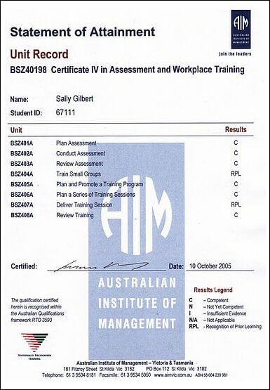 Training & Development Qualifications