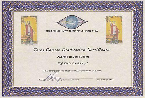 Tarot Qualifications The Visionary Spiritual Institute Of Australia