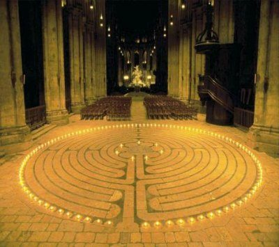 Chatres Candles Labyrinth