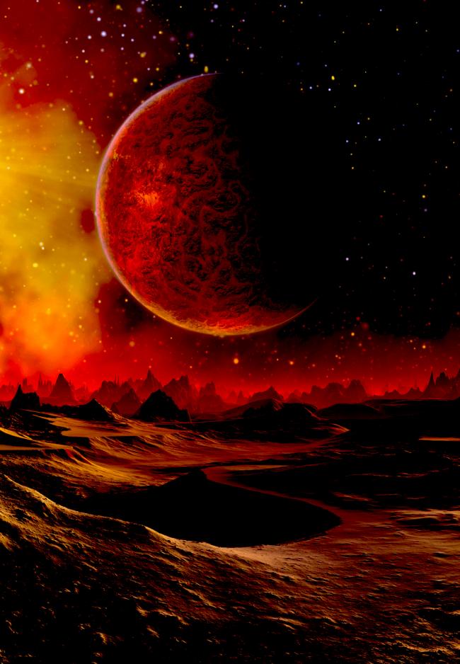Blood Sagittarius Total Lunar Eclipse